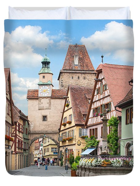 Rothenburg Ob Der Tauber Duvet Cover