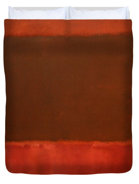 Rothko's Mulberry And Brown Duvet Cover