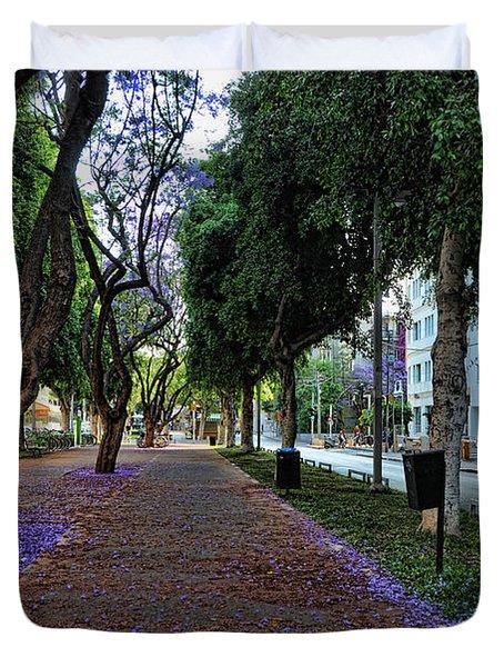 Rothschild Boulevard Duvet Cover