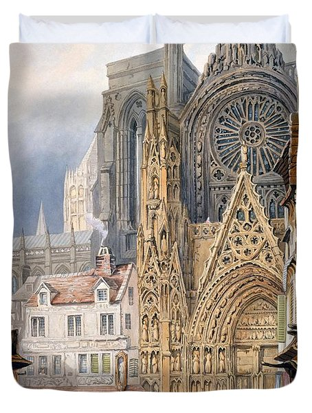 Rouen Cathedral Duvet Cover