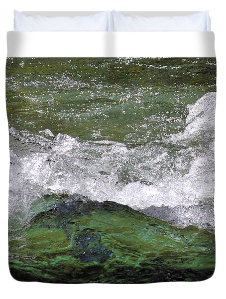 Rough Waters Duvet Cover by Jessica Tookey