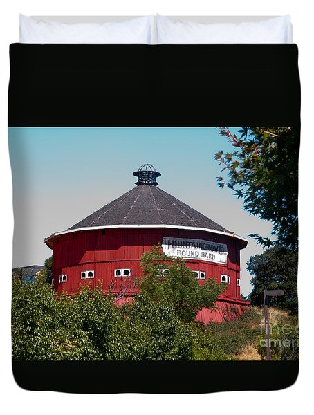Round Barn Named Duvet Cover