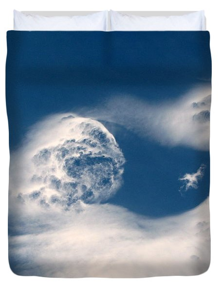 Round Clouds Duvet Cover by Leone Lund