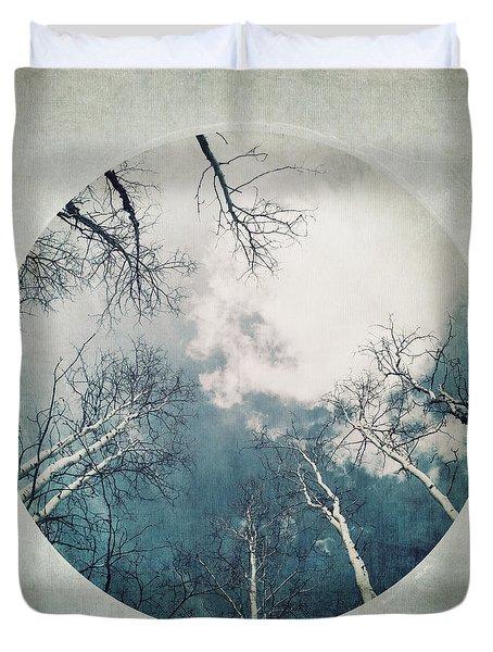 round treetops III Duvet Cover by Priska Wettstein