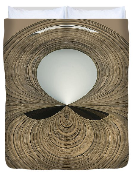 Round Wood Duvet Cover by Anne Gilbert