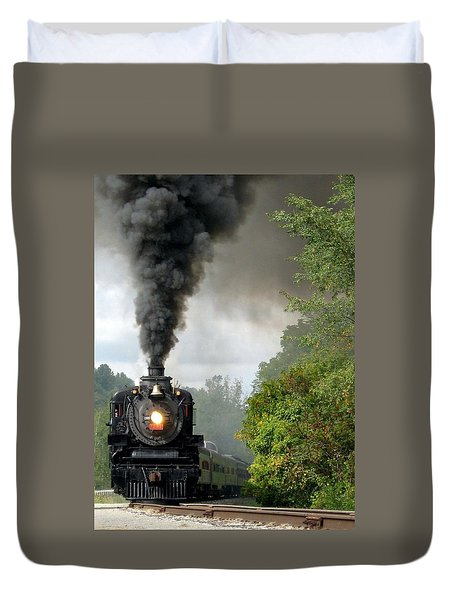 Steamin' In The Valley Duvet Cover