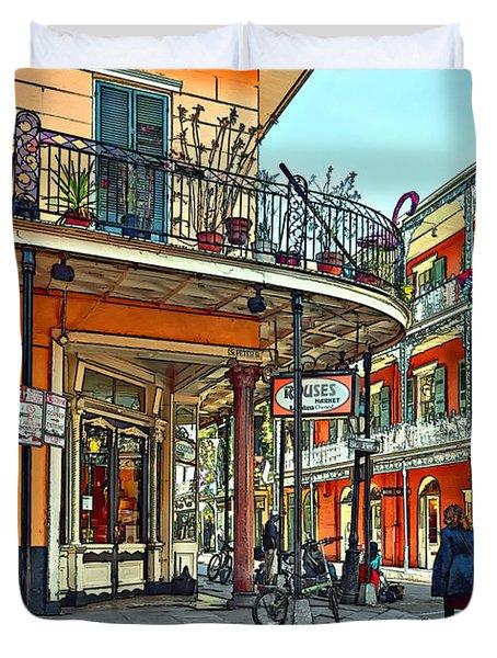 Rouses Market Painted Duvet Cover by Steve Harrington