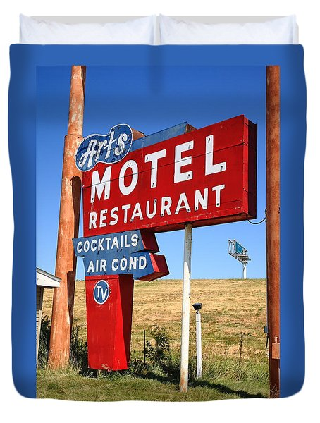 Route 66 - Art's Motel Duvet Cover