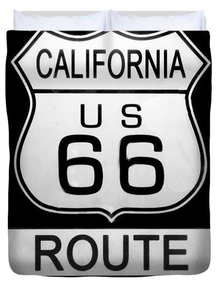 Route 66 End Duvet Cover