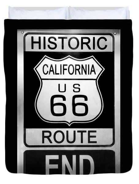 Route 66 End Duvet Cover by Chuck Staley