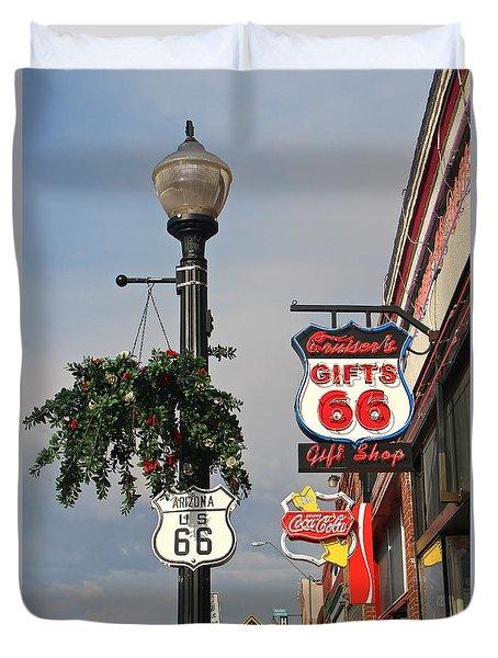 Route 66 In Williams Arizona Duvet Cover