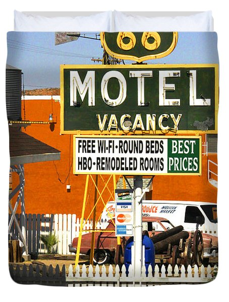 Route 66 Motel - Barstow Duvet Cover