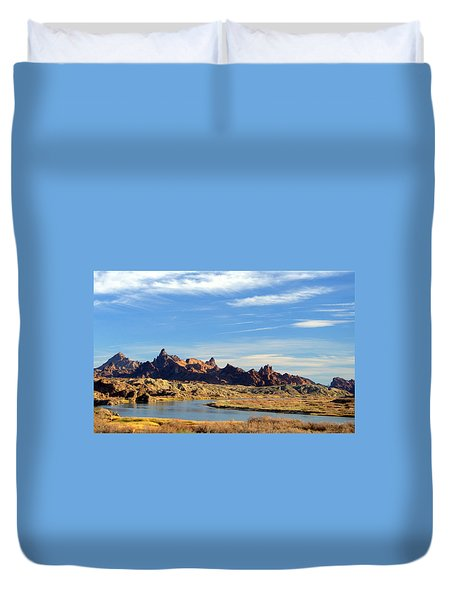Route 66 Needles Mtn Range 2      Sold Duvet Cover