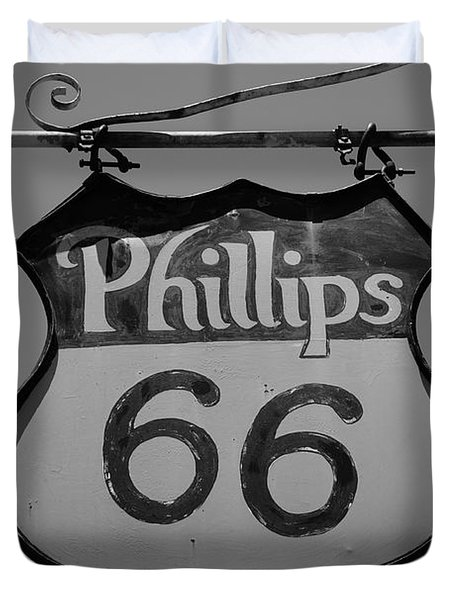 Route 66 - Phillips 66 Petroleum Duvet Cover