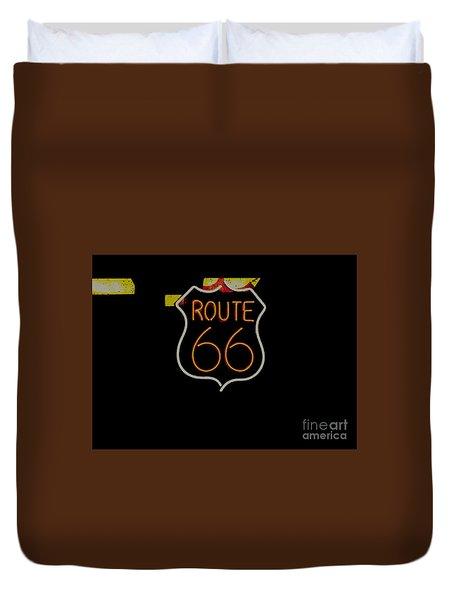 Route 66 Revisited Duvet Cover by Kelly Awad