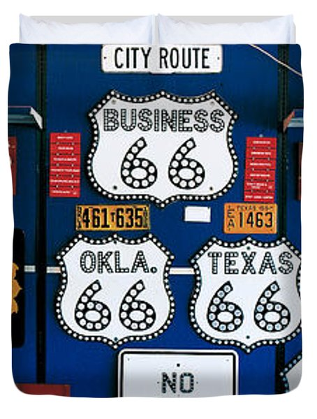 Route 66 Sign Collection Duvet Cover