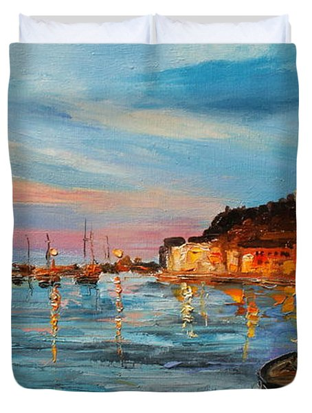 Rovanij Harbour Duvet Cover