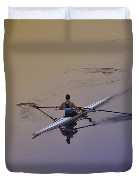 Rower Duvet Cover by Bill Cannon