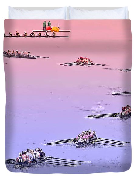 Rowers Arc Duvet Cover by Gary Holmes