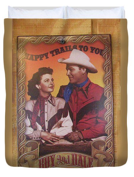 Duvet Cover featuring the photograph Roy And Dale by Donna Brown