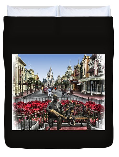 Roy And Minnie Mouse Walt Disney World Duvet Cover by Thomas Woolworth