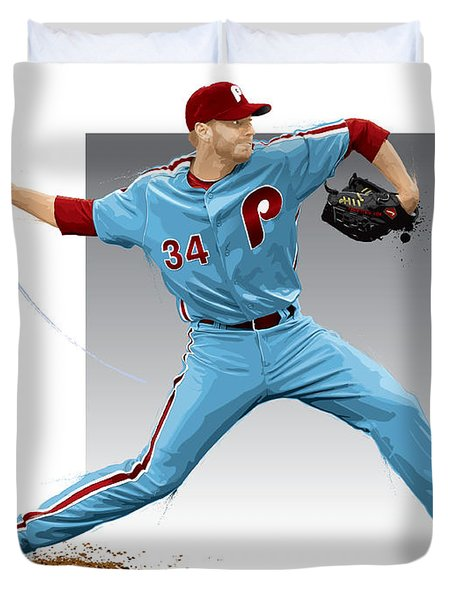 Roy Halladay Duvet Cover