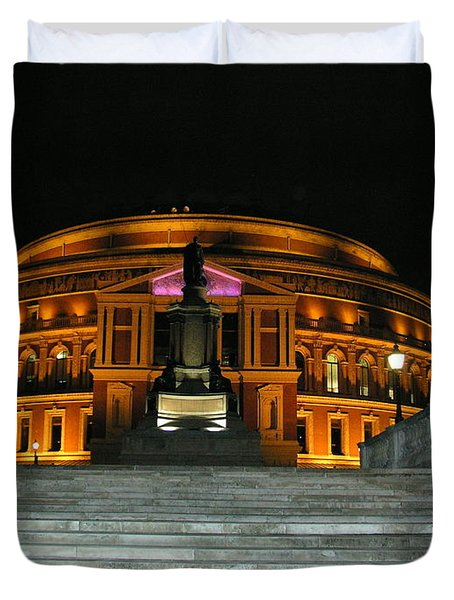 Royal Albert Hall At Night Duvet Cover by Bev Conover