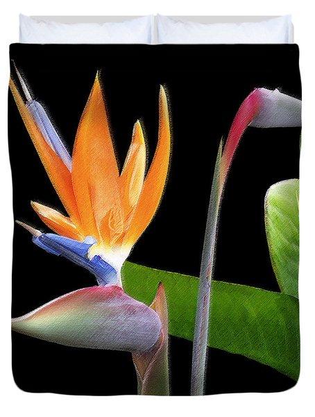 Royal Beauty II - Bird Of Paradise Duvet Cover