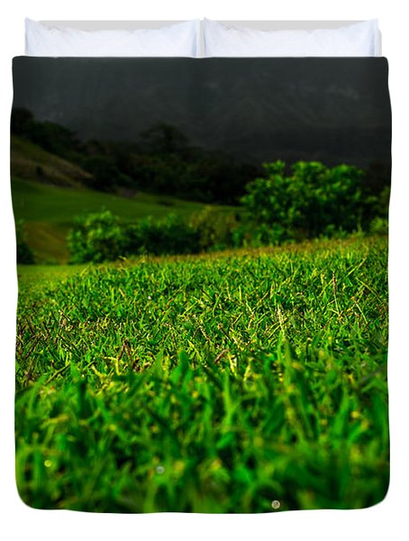 Duvet Cover featuring the photograph Royal Hawaiian Golf by Angela DeFrias