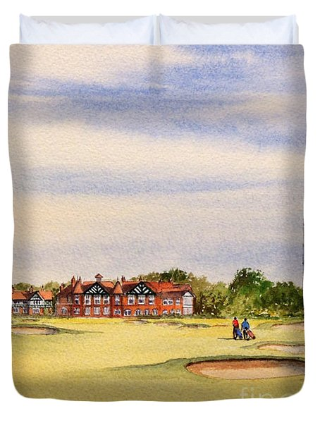Royal Lytham And St Annes Golf Course Duvet Cover