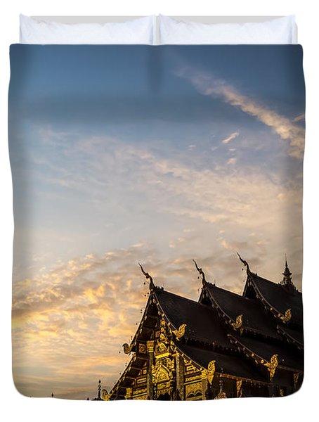 Royal Park Rajapruek On Sunset Duvet Cover by Setsiri Silapasuwanchai