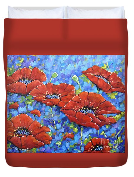 Royal Poppies By Prankearts Duvet Cover by Richard T Pranke