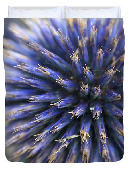 Royal Purple Scottish Thistle Duvet Cover