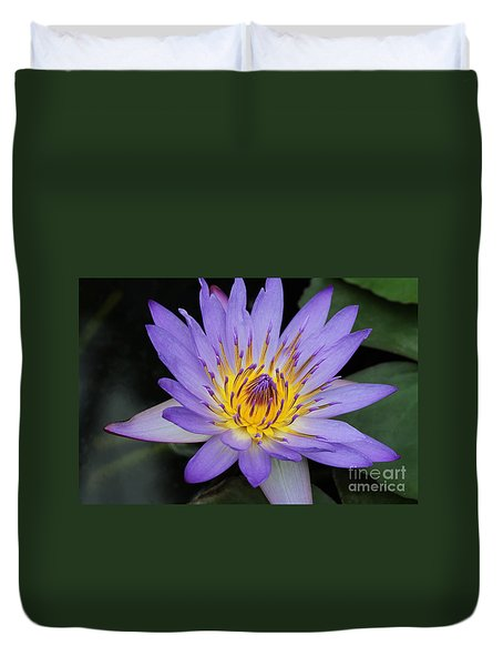 Royal Purple Water Lily #4 Duvet Cover