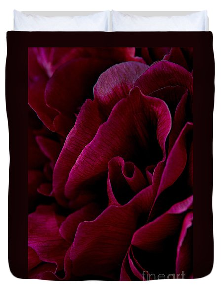 Royal Red Peony Duvet Cover