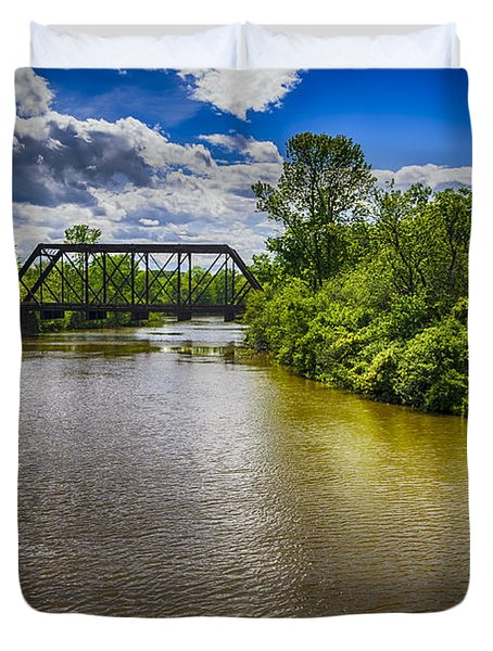 Duvet Cover featuring the photograph Royal River by Mark Myhaver