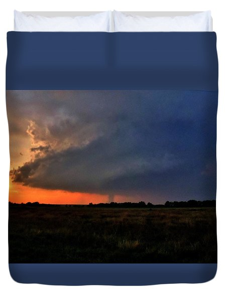 Duvet Cover featuring the photograph Rozel Tornado by Ed Sweeney