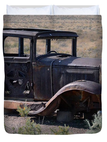 Duvet Cover featuring the photograph Rt 66 And Nowhere To Go by Debby Pueschel