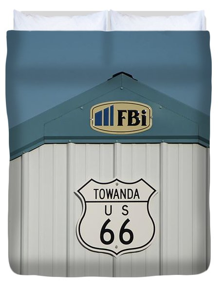 Rt 66 Towanda Plague Duvet Cover by Thomas Woolworth