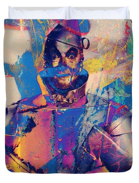 Rubber Tin Man  Duvet Cover by Jerry Cordeiro