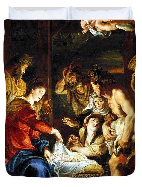 Rubens Adoration Duvet Cover