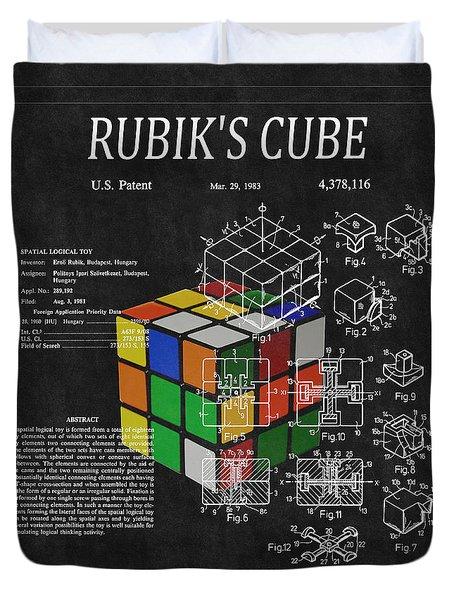 Rubik's Cube Patent 3 Duvet Cover