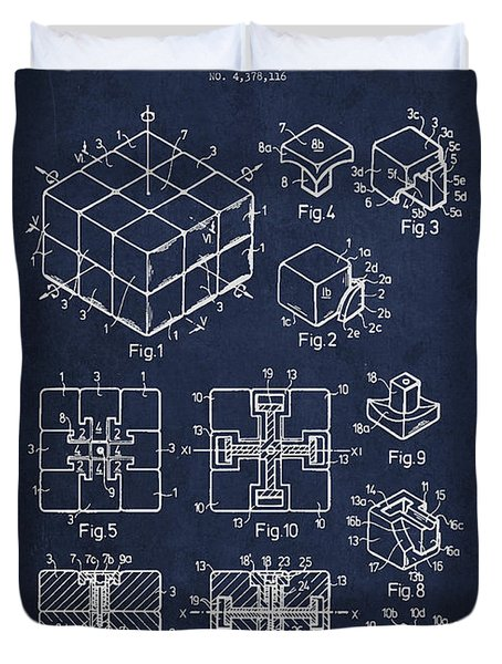 Rubiks Cube Patent Duvet Cover by Aged Pixel