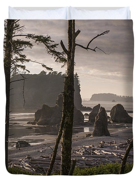 Ruby Beach Duvet Cover