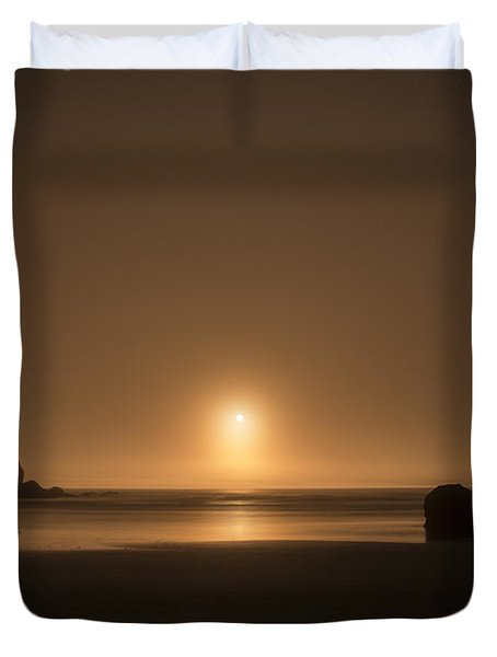 Ruby Beach Sunset Duvet Cover
