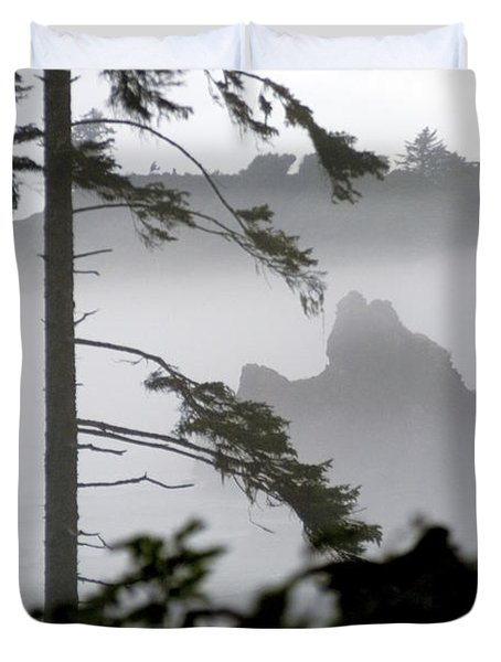 Ruby Beach Washington State Duvet Cover