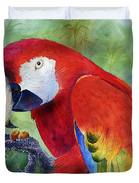 Ruby Having Lunch Duvet Cover