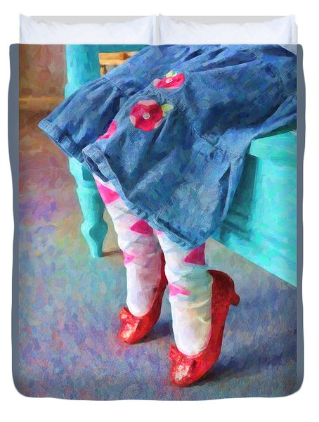 Ruby Red Slippers Duvet Cover