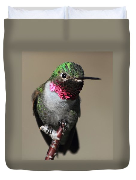 Ruby-throated Hummer Duvet Cover