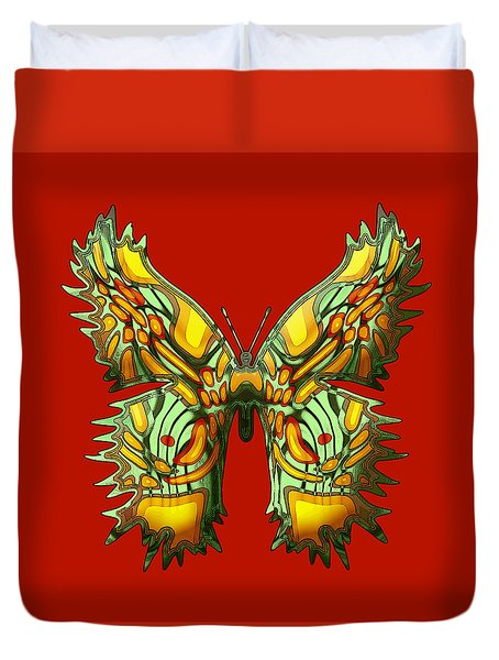Rubyfly Butterfly Duvet Cover